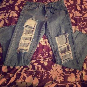 Boohoo Distressed Jeans